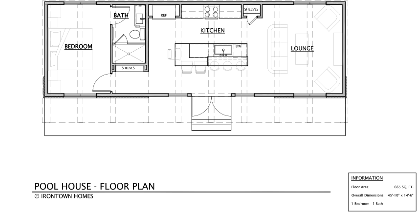 Pool house irontown homes for Pool guest house floor plans